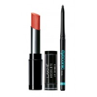 Lakme Absolute Illuminating Lip Shimmer - Metal Rust + Lakme Eyeconic Kajal - Black