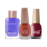 Lakme True Wear Nail Color Shade N236 + Shade N237 + Free Nail Color Remover - Full Size Tester