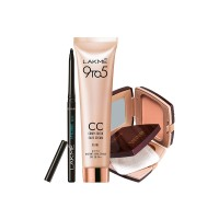 Lakme Radiance Complexion Compact - Pearl + Complexion Care Face Cream - Beige + Free Eyeconic Kajal - Full Size Tester