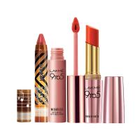 Lakme Masaba Lip Color - Cotton Candy  + Primer + Matte Lip Color - Red Rebel + Free 9 to 5 Lip & Cheek - Full Size Tester