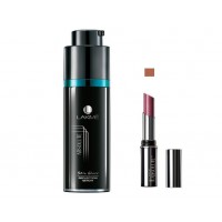 Lakme Absolute Skin Gloss Reflection Serum + Lakme Absolute Creme Lipcolor - Caramel Kiss