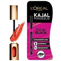 L'Oreal Paris Color Riche l'Extraordinaire Shine Lipstick 300 (Orange Tempo) + Free Kajal Magique