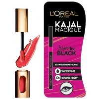 L'Oreal Paris Color Riche l'Extraordinaire Shine Lipstick (301 Rouge Soprano) + Free Kajal Magique