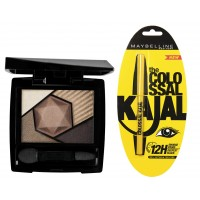 Maybelline New York Color Sensational Diamonds Eye Shadow - Topaz Gold + Free Colossal Kajal