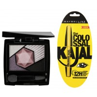 Maybelline New York Color Sensational Diamonds Eye Shadow - Tourmaline Purple + Free Colossal Kajal