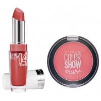Maybelline New York Superstay 14H Megawatt - 455 Burst Of Coral + Free Color Show Blush - Fresh Coral