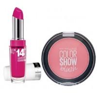 Maybelline New York Superstay 14H Megawatt - 135 Flash Of Fuchsia + Free Color Show Blush - Peachy Sweetie