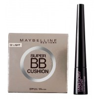 Maybelline New York BB Cushion - 02 Light + Free Hyper Glossy Liquid Liner - Black