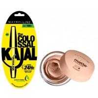 Maybelline New York Dream Matte Mousse Foundation - 70 Pure Beige Medium + Free Colossal Kajal 24HR