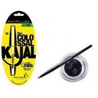 Maybelline New York Eye Studio Lasting Drama Gel Eyeliner - Black + Free Colossal Kajal 24HR