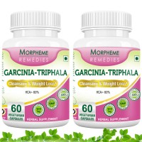 Morpheme Remedies Garcinia Cambogia Triphala - Cleansing & Weight Loss - 500mg Extract (Pack Of 2) (Buy 1 Get 1)