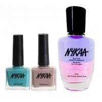 Nykaa Subtle Elegance Nail Enamel Combo + Nykaa Dual Tone Nail Enamel Remover