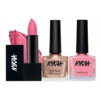 Nykaa Shine On Me Nail & Lipstick Combo