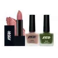 Nykaa Lookin' At You Nail and Lipstick Combo
