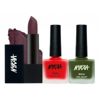 Nykaa All I Want For X'Mas Lips And Nails Combo