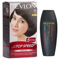 Revlon Top Speed Hair Color - Woman (Natural Brown 60) With Free Color Protection Shampoo Worth Rs. 115/-