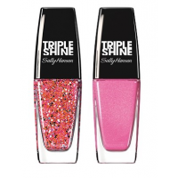 Sally Hansen Triple Shine Nail - 310 Twinkled Pink + Free 130 Blow Bubbles