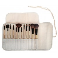 Shany 12 - Piece Vegan Professional Makeup Brushes In Bamboo