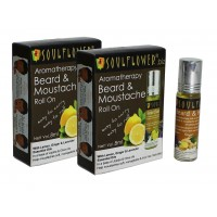Soulflower Aromatherapy Beard & Moustache Roll On - Pack Of 2
