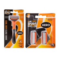 The Shave Doctor Hero Razor + Hero Blade - Packs of 2