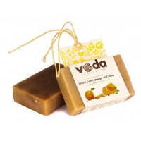 Veda Essence Wheat Germ Orange Vit E Soap
