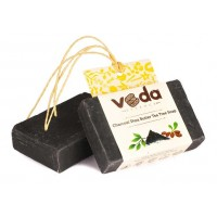 Veda Essence Charcoal Shea Butter Tea Tree Soap