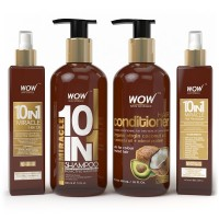 WOW 10 in 1 Miracle Hair Oil + Miracle 10 in 1 Shampoo + Hair Conditioner + Miracle 10 in 1 Hair Revitalizer