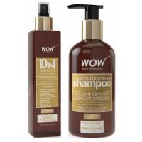 WOW 10 in 1 Miracle Hair Revitalizer + Organics Anti Dandruff Shampoo(300ml) Paraben Sulphate Free