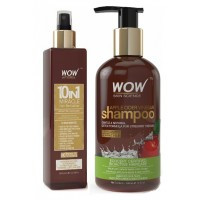 WOW 10 in 1 Miracle Hair Revitalizer + Skin Science Apple Cider Vinegar Shampoo Free Paraben Sulphate