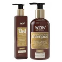 WOW 10 in 1 Miracle Hair Oil + Organics Anti Dandruff Shampoo(300ml) Paraben Sulphate Free