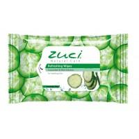 Zuci Cucumber & Mint Wet Wipes  - 15 WIPES