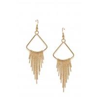 Toniq Golden Spike Drop Earrings