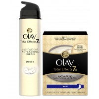 Olay Total Effects 7 In One Light Weight Anti Ageing Cream Day Spf 15 + Night Firming Cream