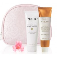 Natio Aromatherapy Gentle Foaming Facial Cleanser + Natio Wellness Hand Cream SPF 15