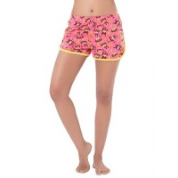 PrettySecrets Cotton Supersoft Shorts - Pink, Multi Colour / Print, Animal