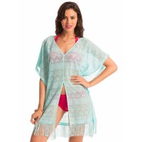 PrettySecrets Tassel Away Aqua Cover-Up