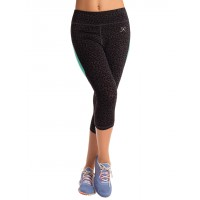 PrettySecrets Black Wild cat Energise Workout Cropped Leggings