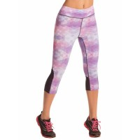 PrettySecrets Purple Mosaic Energise Workout Cropped Leggings