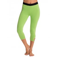 PrettySecrets Fresh Green Yoga Love Capris