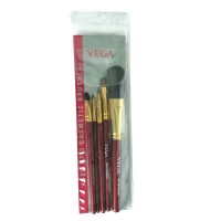 Vega Set Of 5 Brushes (Color May Vary)
