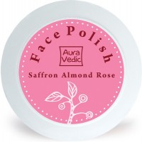 AuraVedic Radiance by Nature Face Polish - Rose Almond with Saffron Scrub
