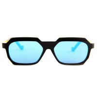 The Blur Store Narrow Blue Futuristic Sunglasses
