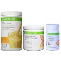 Herbalife Weight Loss Combo - Orange Cream, Protein Powder & Afresh Cinnamon