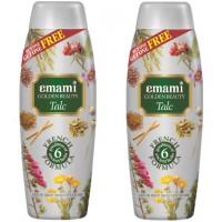 Emami Golden Beauty Moon Drop Talc (Buy 1 Get 1 Free)