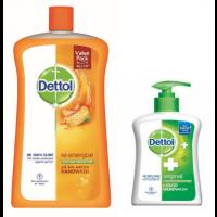 Dettol Liquid Handwash Re-energize Jar 900ml + Free Original Liquid Hand Wash Pump 215ml Worth Rs 74