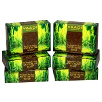 Vaadi Herbals Super Value Pack Of 6 Becalming Tea Tree Soap Anti-Acne Therapy