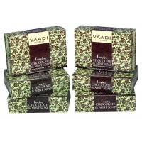 Vaadi Herbals Super Value Pack Of 6 Tempting Chocolate & Mint Soap-Deep Moisturising Therapy