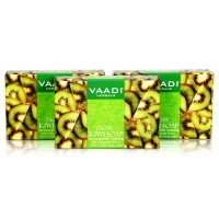 Vaadi Herbals Value Pack Of 3 Exotic Kiwi Soap With Green Apple Extract