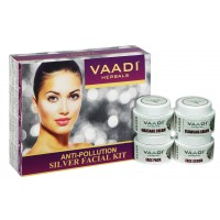 Vaadi Herbals Silver Facial Kit With Pure Silver Dust, Rosemary & Lavender Oil, Sandalwood Paste