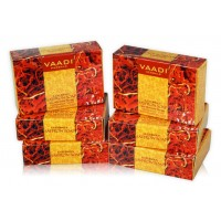 Vaadi Herbals Super Value Pack Of 6 Luxurious Saffron Soap - Skin Whitening Therapy